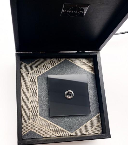 Muster-Leihgabe zur Ansicht - Retro-Schalter CAMBRIDGE Glas-Optik Chrom