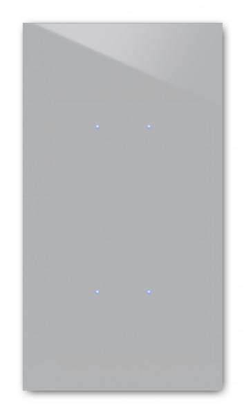 Beton farbener 4-fach Touch-Lichtschalter in der Farbe: WORSTED ® von Farrow & Ball Nr.: 284