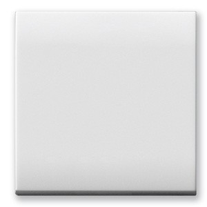 KREUZ-Schalter Einsatz. Weiß glänzend.