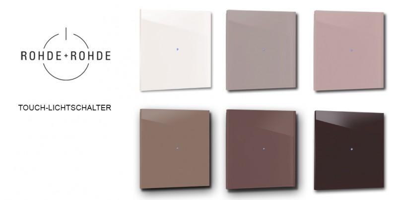 Design-Lichtschalter Rote Touch-screen Berührungsschalter LED beleuchtet von ROHDE+ROHDE