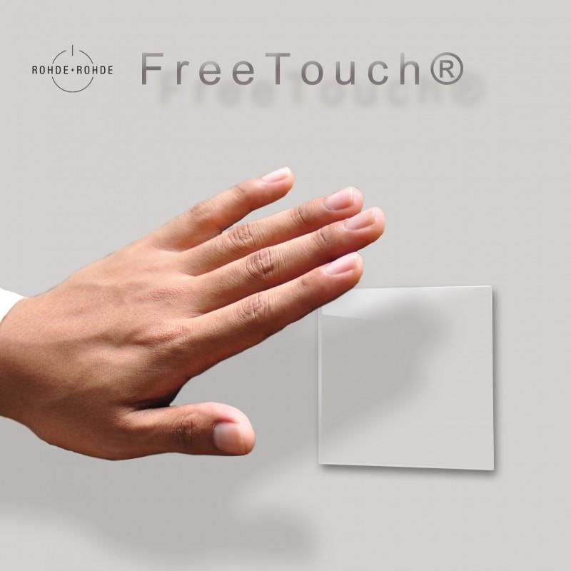 Touch-Lichtschalter Grau Berührungslos FreeTouch Gestensteuerung Modern Glas