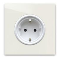 Warm Weiße 1-fach Steckdose in der Farbe: SLIPPER SATIN ® von Farrow & Ball Nr.: 2004