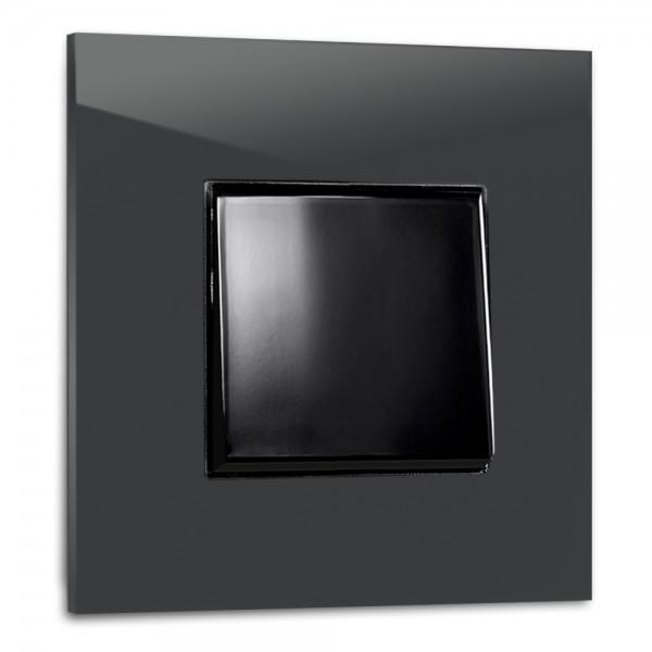 Anthrazit farbener, moderner 1-fach Lichtschalter von ROHDE+ROHDE in der Farbe: RAILINGS ® von Farrow & Ball Nr.: 31