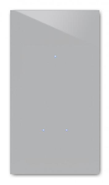 Beton farbener 3-fach Touch-Lichtschalter in der Farbe: WORSTED ® von Farrow & Ball Nr.: 284