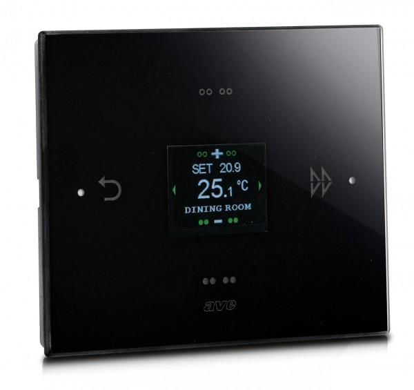 KNX-Thermostat Glas schwarz - KNX-Multifunktionsdisplay mit sensitiver Oberfläche
