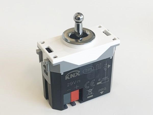 R+R. CAMBRIDGE Kipphebel KNX-Schalter Chrom