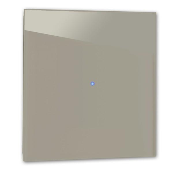 Brauner 1-fach Touch-Licht-Schalter 230V in der Farbe: CHARLESTON GRAY ® von Farrow & Ball Nr.: 243