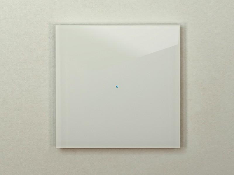 Touch-Lichtschalter weiß Berührungslos Modern Glas für Smart-Home von ROHDE+ROHDE