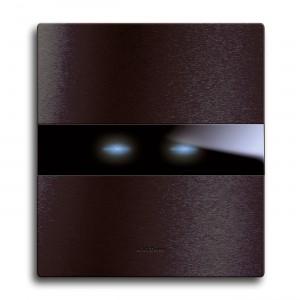 AVE, Frontblende 1fach, Alu-Dunkelgrau für 1-2 Sensoren.