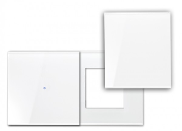 Touch-Blenden-Set - Glas-Optik - In Farrow & Ball Farbe (Waagerecht mit Abdeckung). E