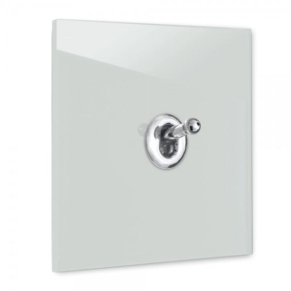 Himmel-Blauer 1-fach Retro-Lichtschalter mit Chrom Kipphebel in der Farbe: SKYLIGHT ® von Farrow & Ball Nr.: 205