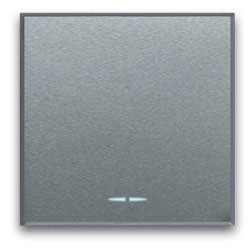 EIN/AUS/WECHSEL Schalter-Einsatz Silber, breit