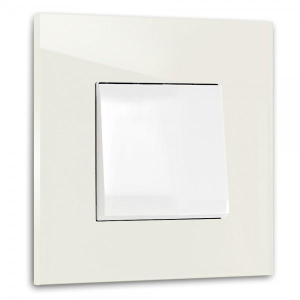 Warm Weißer, moderner 1-fach Lichtschalter von ROHDE+ROHDE in der Farbe: SLIPPER SATIN ® von Farrow & Ball Nr.: 2004
