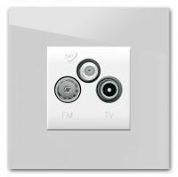 TV-FM/SAT Anschlussdose (3fach) als komplettes Set 228 GRAU >> TOP-SELLER <<< Farrow & Ball