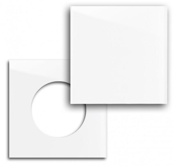 """Rahmenset - Glas-Optik - in Farrow & Ball Farbe mit Abdeckung. Für runde Einsätze. """"MAXIM"""""""