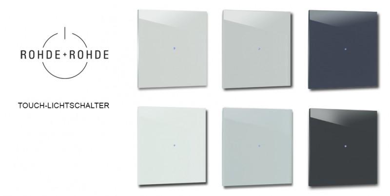 Design-Lichtschalter Blau. Viele Varianten